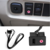 Brand New Car 3.5mm USB AUX Headphone Male Jack Flush Mount Mounting Adapter Panel Input