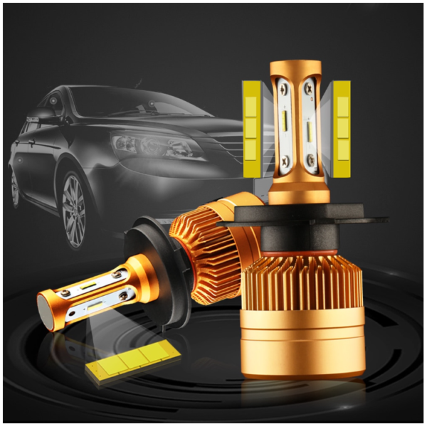 2Pcs H4 LED H7 H11 H8 9006 Car Headlight Bulbs LED Lamp with Philips Chip Auto Fog Lights 6000K 12V
