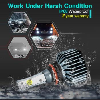 S&D Car Headlight Bulbs Newest LED H4 H7 H11 H1 H3 9005 9006 HB4 HB3 H27 LED Lamps 6500K Auto 12V 24V