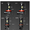 2Pcs H8 9005 Fog Lights Bulb 1200LM 6000K White Daytime Running Lamp Auto Leds 12V 24V