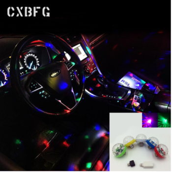 Mini Usb LED Atmosphere Lights Phone Music Rhythm Activated Auto Decoration Lamps Bulbs