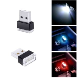 1 Piece Car USB LED Decorative Lamp Emergency Lighting Red/Blue/White