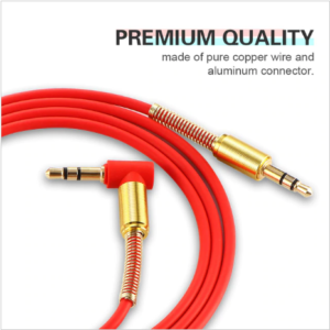 Car Aux Audio Cable 3.5mm Jack Male to Male HIFI Universal Stereo Audio Cable with 90 Degree Angle