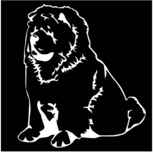 Chow Chow Dog Car Sticker