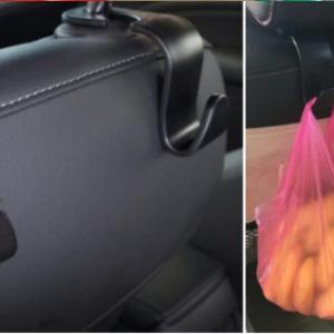QILEJVS Universal Car SUV Back Seat Headrest Hanger Storage Hooks For Groceries Bag Handbag