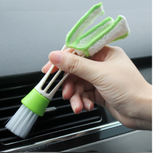 Double Ended Auto Car Air Conditioner Vent Outlet Cleaning Brush Car Meter Detailing Cleaner Blinds Duster Brush