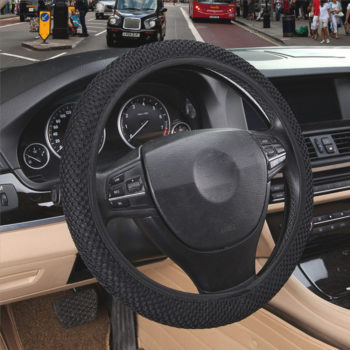 Fabric steering wheel cover
