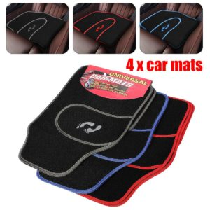 4 Pcs Universal Car Floor Mats Carpet Non-Slip GRIP Feet Pattern All Weather Mat