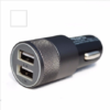 Double USB Car Charger 2.1V Small Steel Cannon