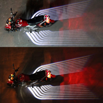 CNSUNNYLIGHT Car/Motorcycle LED Emergency Signal Wings Lamp Projector Shadow Lighting Fog Warning Light