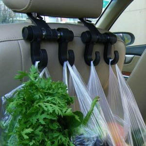 2pcs/set Convenient Car Seat Hooks Purse Shopping Bag Organizer Holder Plastic Hanger Hot